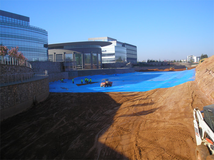 Pond Liner | Carolina First Corporate Campus Pond