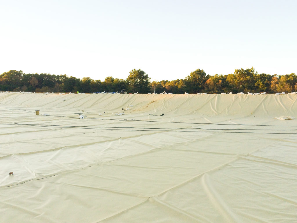Pond Liner | Louisiana Department of Wildlife and Fisheries' Beechwood Fish Hatchery