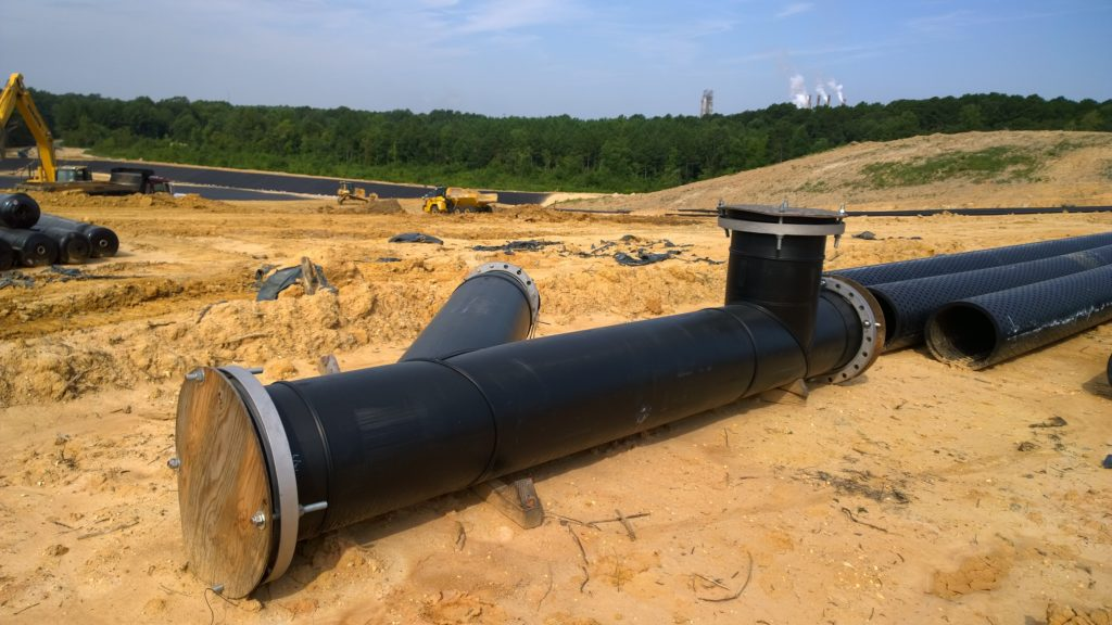 HDPE Leachate Collection Piping System | Georgia Pacific's East Landfill
