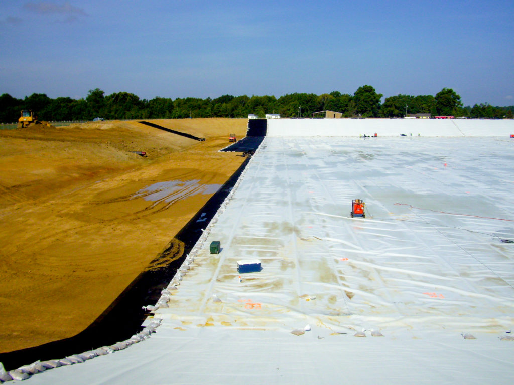 Geosynthetic Conductive Liner | Cardinal Gas Brine Pond