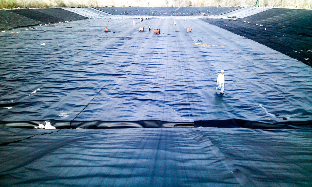 Geosynthetic Conductive Liner | Petro Logistics Choctaw Brine Pond