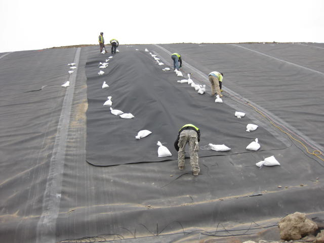 Exposed Geomembrane Cover | US Ecology