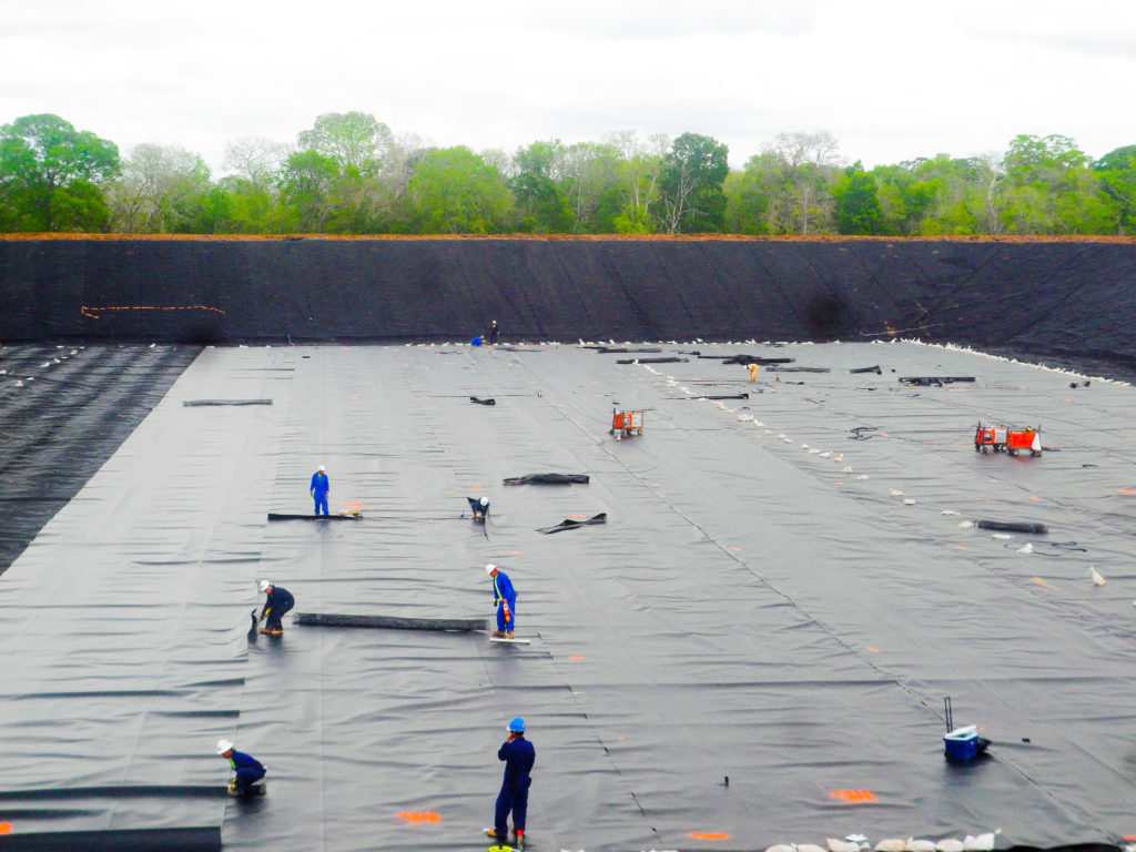 Geosynthetic Conductive Liner System | Enterprise Wilson Ethane Storage Brine Pond
