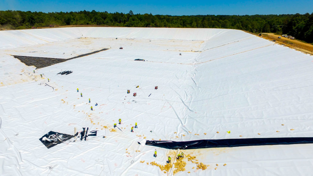Geosynthetic Conductive Liner | Energy Transfer Partners NGL Brine Pond